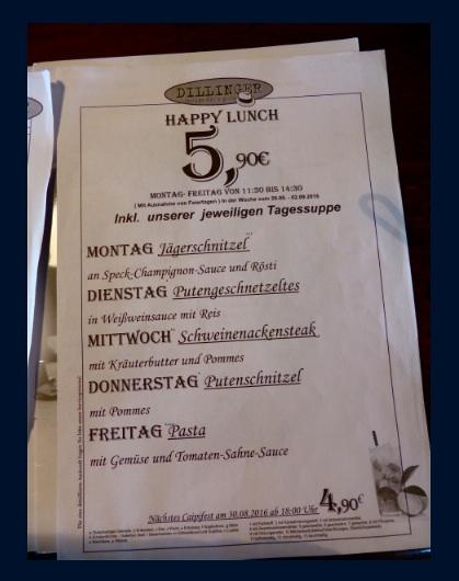 Dil menu